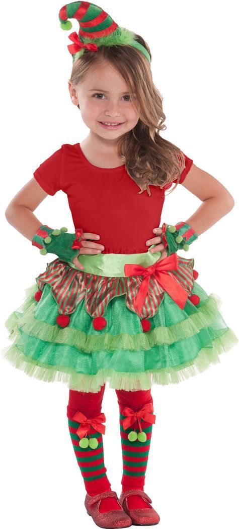 Child elf costume kit party city katherine adams - Trajes para navidad ninos ...