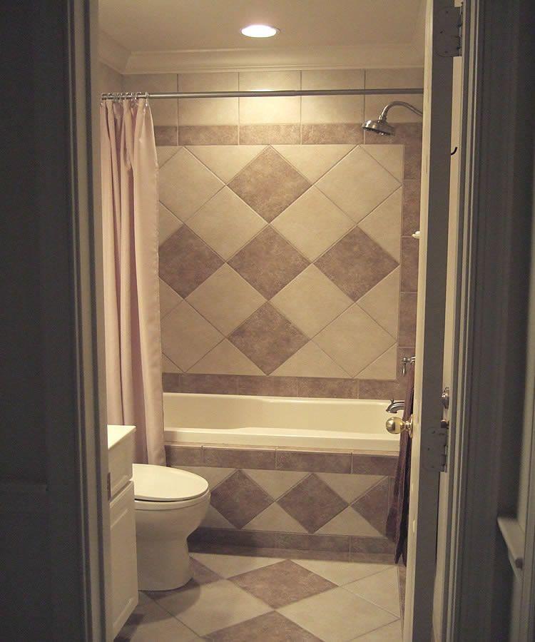 Main Bath tiled skirt image Shower tile, Diy bathroom