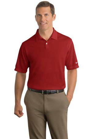 2fcba8b23020 Nike Golf - Dri-FIT Pebble Texture Polo Style 373749 - Available from  SweatshirtStation.com  menspolo  redpolo  businesscasual