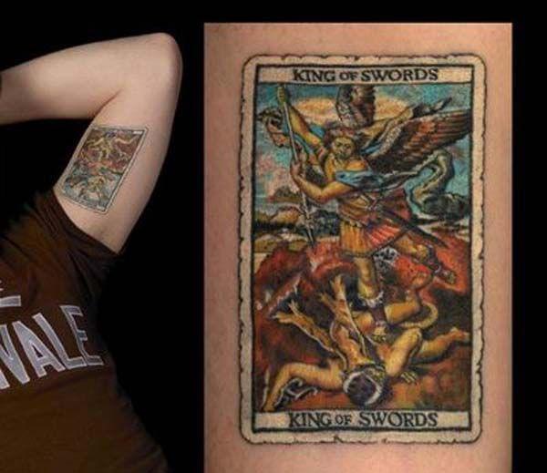 King of Swords   Tattoos of Tarot Cards   Tarot tattoo