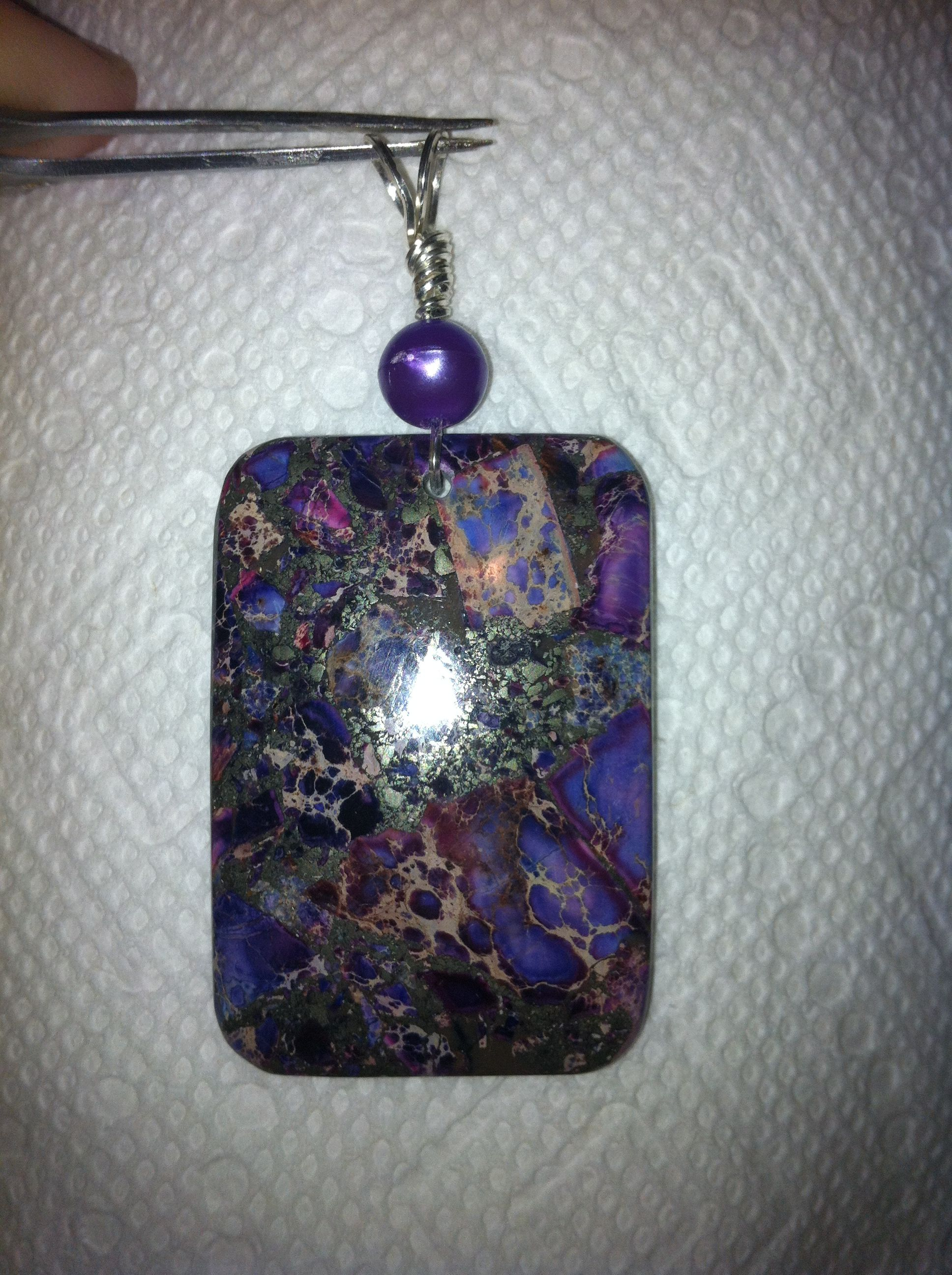 Purple Sea Sediment Jasper & purple pearl