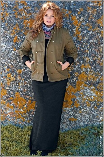Veste militaire femme kaki grande taille