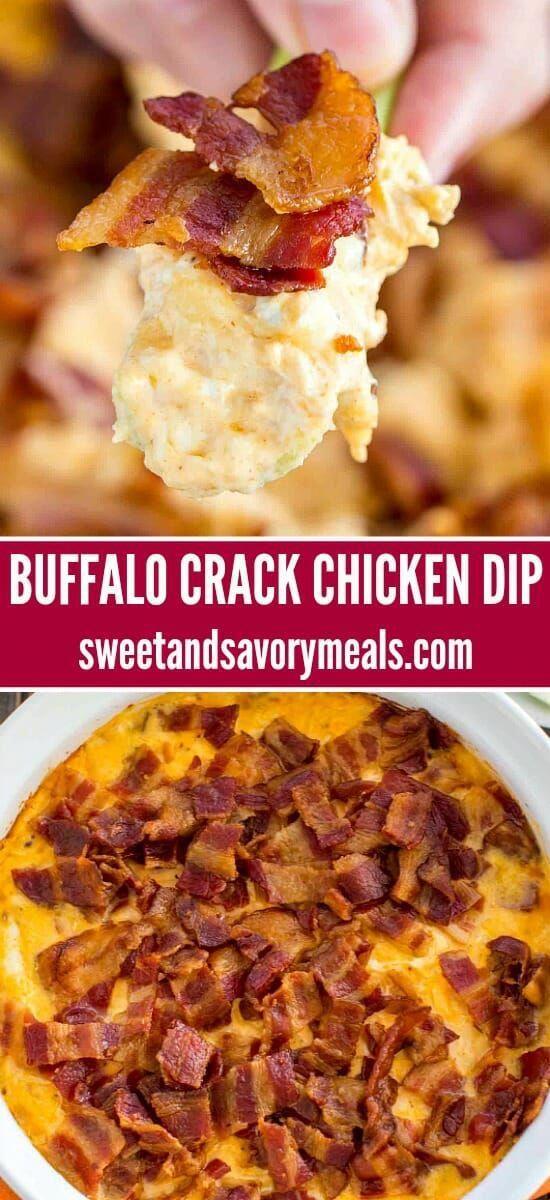 Buffalo Crack Chicken Dip