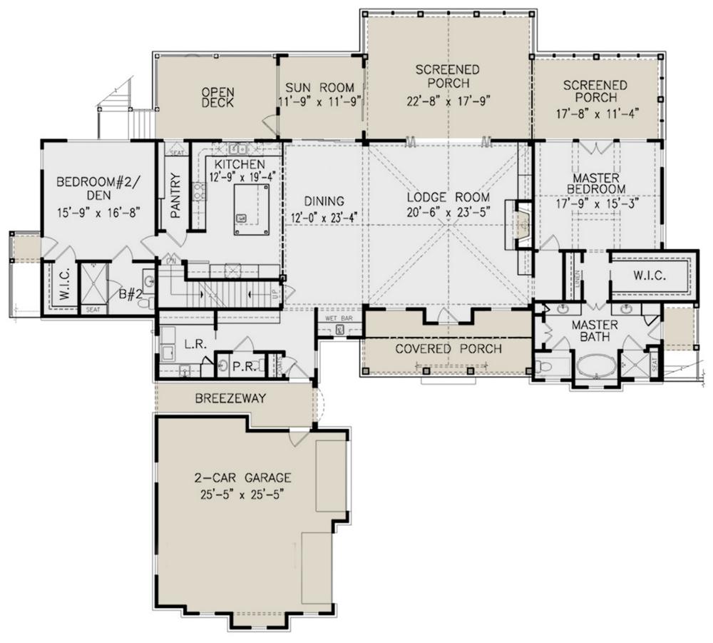 House Plan 699 00161 Mountain Plan 2 594 Square Feet 2 3 Bedrooms 3 5 Bathrooms House Plans Mountain House Plans House Floor Plans