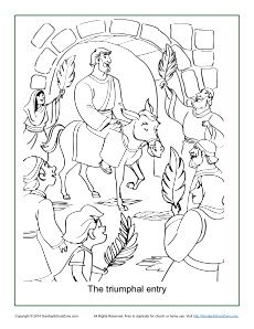 Free Printable Palm Sunday Coloring Page On Sunday School Zone