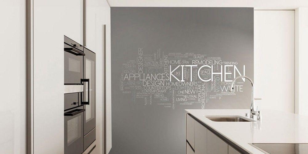 Risultati immagini per carta parati cucina moderna | For The ...
