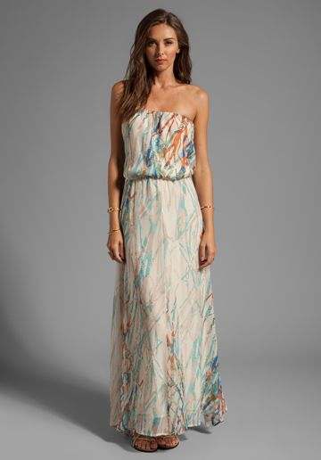 dc67aeb85097 GYPSY 05 Cannes Seismograph Silk GGT Tube Maxi Dress in Moonbeam - Maxi