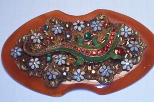 Vtg Bakelite Brooch Pin Lizard Extremely RARE Art Deco 1930's Large Chunky | eBay