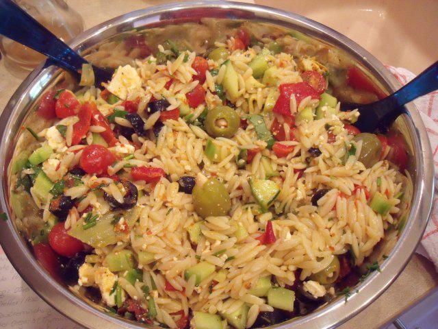 Salat zum grillen mit reis