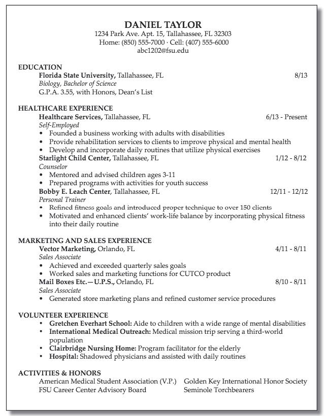Resume For Sales Associate Examples Resume Cv Resume Resume Cv Florida State University