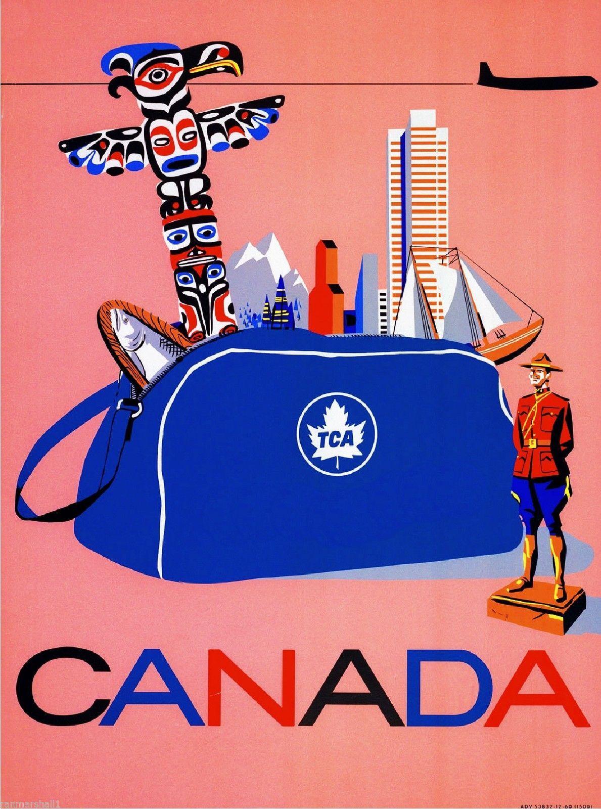 Canada - Trans-Canada Air Lines (TCA), Vancouver Toronto Montreal ...