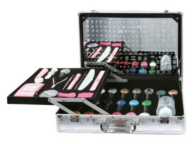 Konad pro salon stamping kit ii 32895 do it yourself konad stamping nail art the professional salon case include the big demo plate from latest konad image plates the new 2010 konad case include demo plate solutioingenieria Image collections