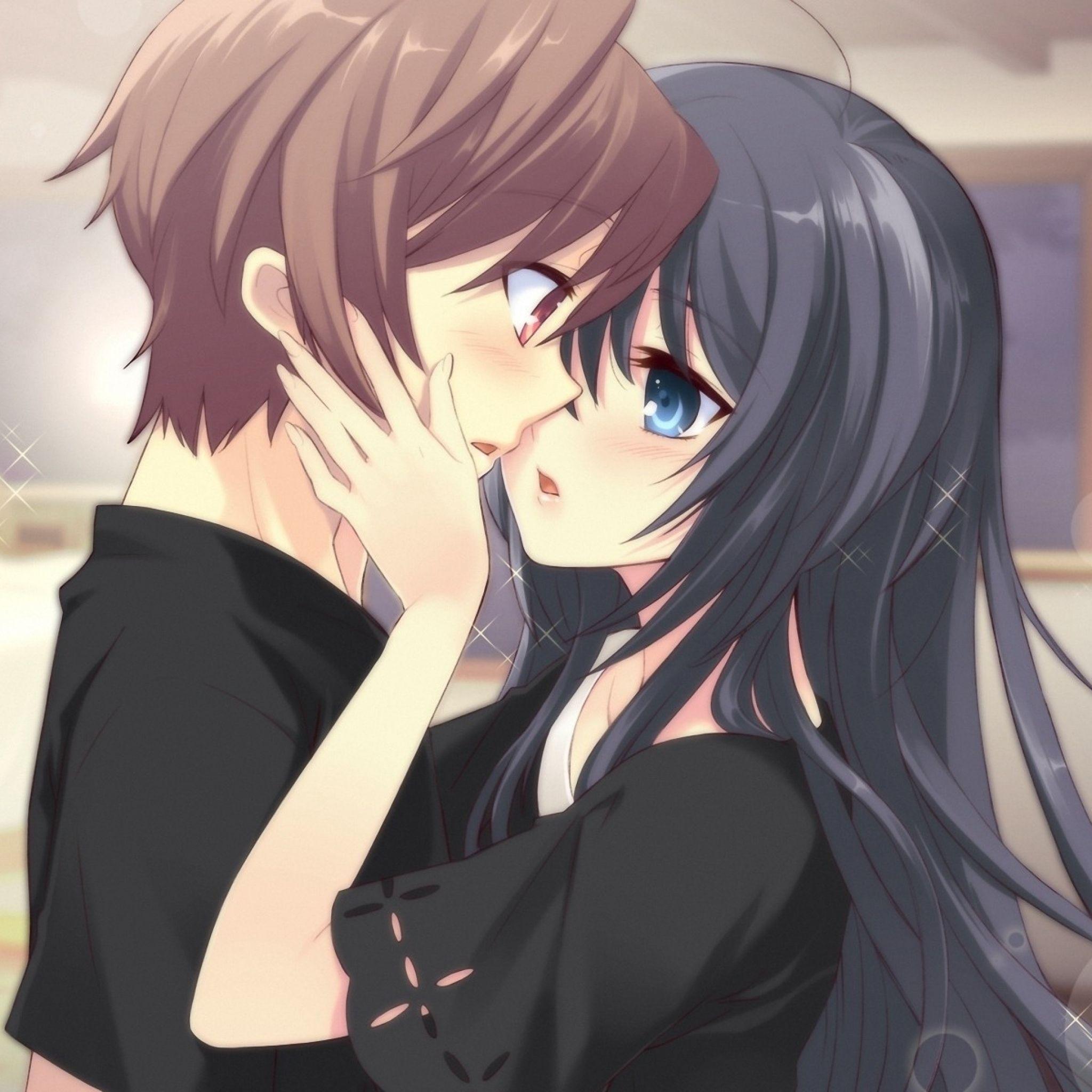2048x2048 Wallpaper Anime Boy Girl Tenderness Kiss Room Android Wallpaper Anime Anime Wallpaper Phone Anime Wallpaper Download