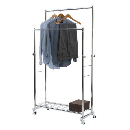 Walmart Clothes Hanger Rack Amazing Seville Classics Commercial Double Rod Garment Rack  Garment Racks 2018
