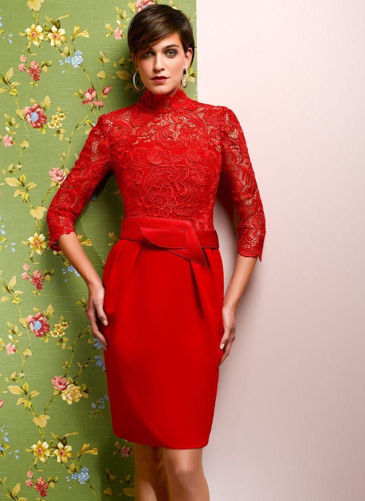 Vestido rojo.