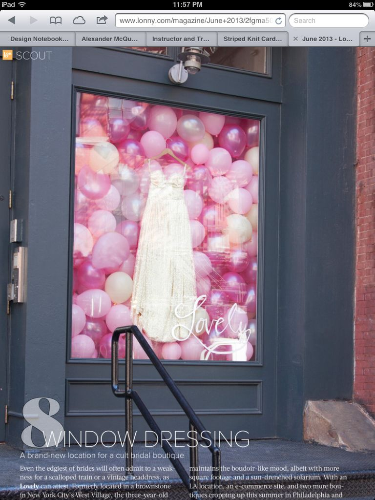 Balloon window display schaufensterideen pinterest for Dekoration und display
