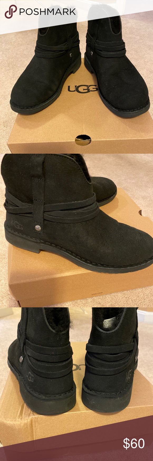 UGG Pasqual Boot Black size 8.5 in 2020