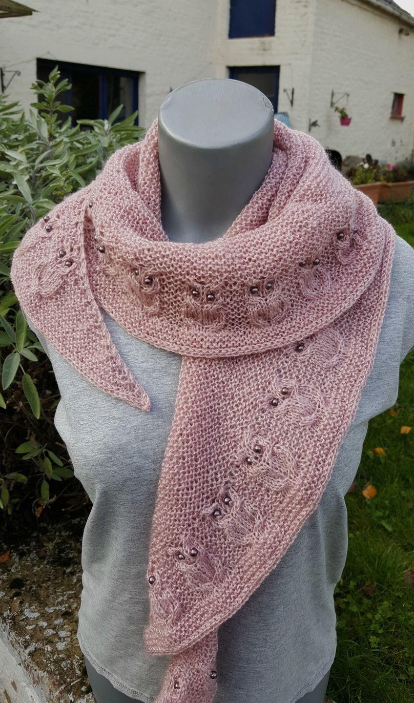 assez bon marché joli design vente chaude réel Châle tricoté main ou chauffe épaule - écharpe