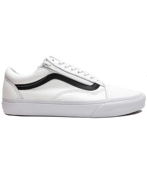 VANS - PREMIUM LEATHER OLD SKOOL ZIP (TRUE WHITE)  416393841