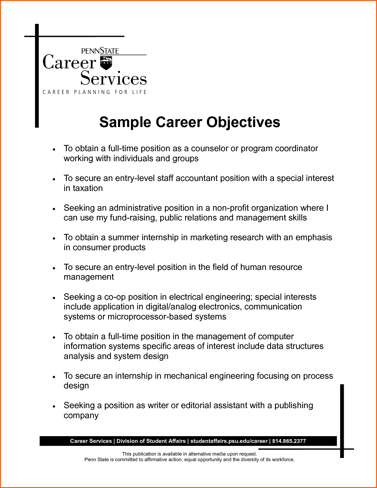 career objective examples for resume denial letter sample job ledger paper
