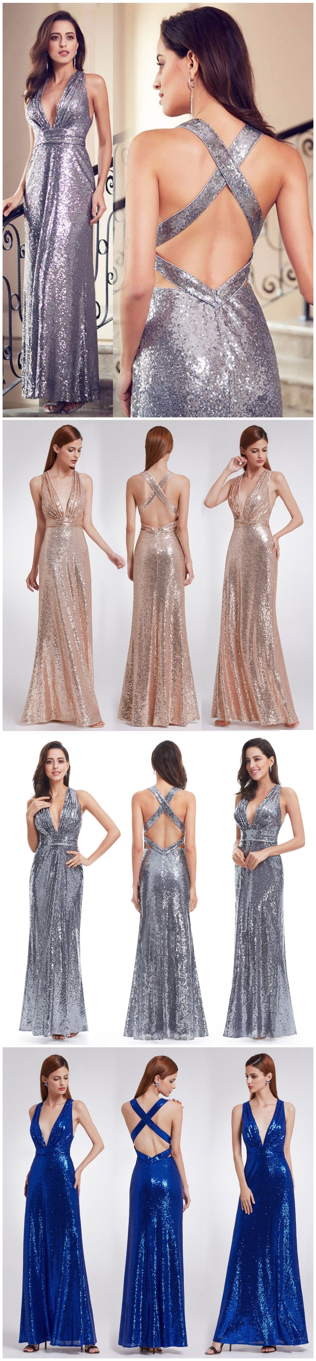 Plus size cheap prom dresses sequin sexy rose gold long formal
