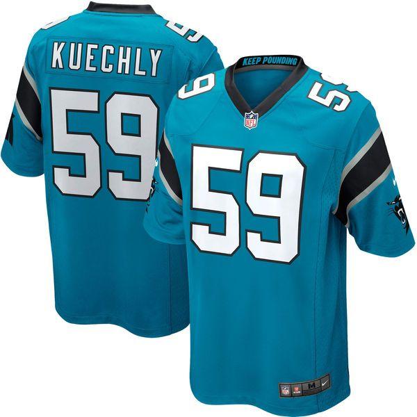50967b4f442 Luke Kuechly Carolina Panthers Nike Youth Team Color Game Jersey - Black