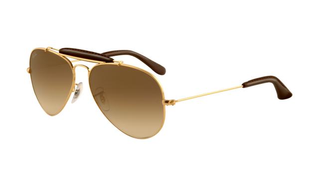 ray ban rb3025 aviator sunglasses gold frame crystal yellow pola