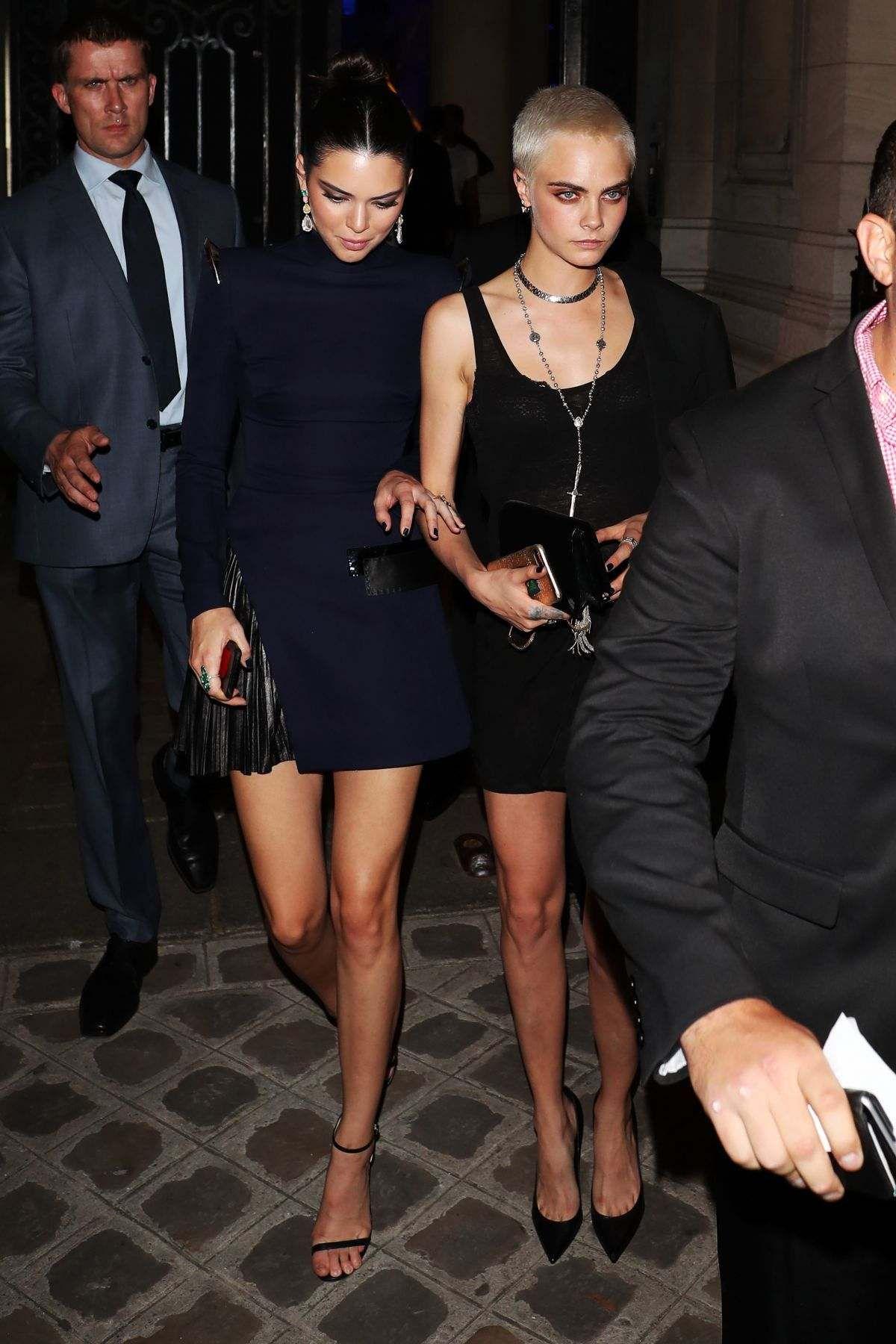 Cara Delevingne And Kendall Jenner At Vogue Party At Paris Fashion Week