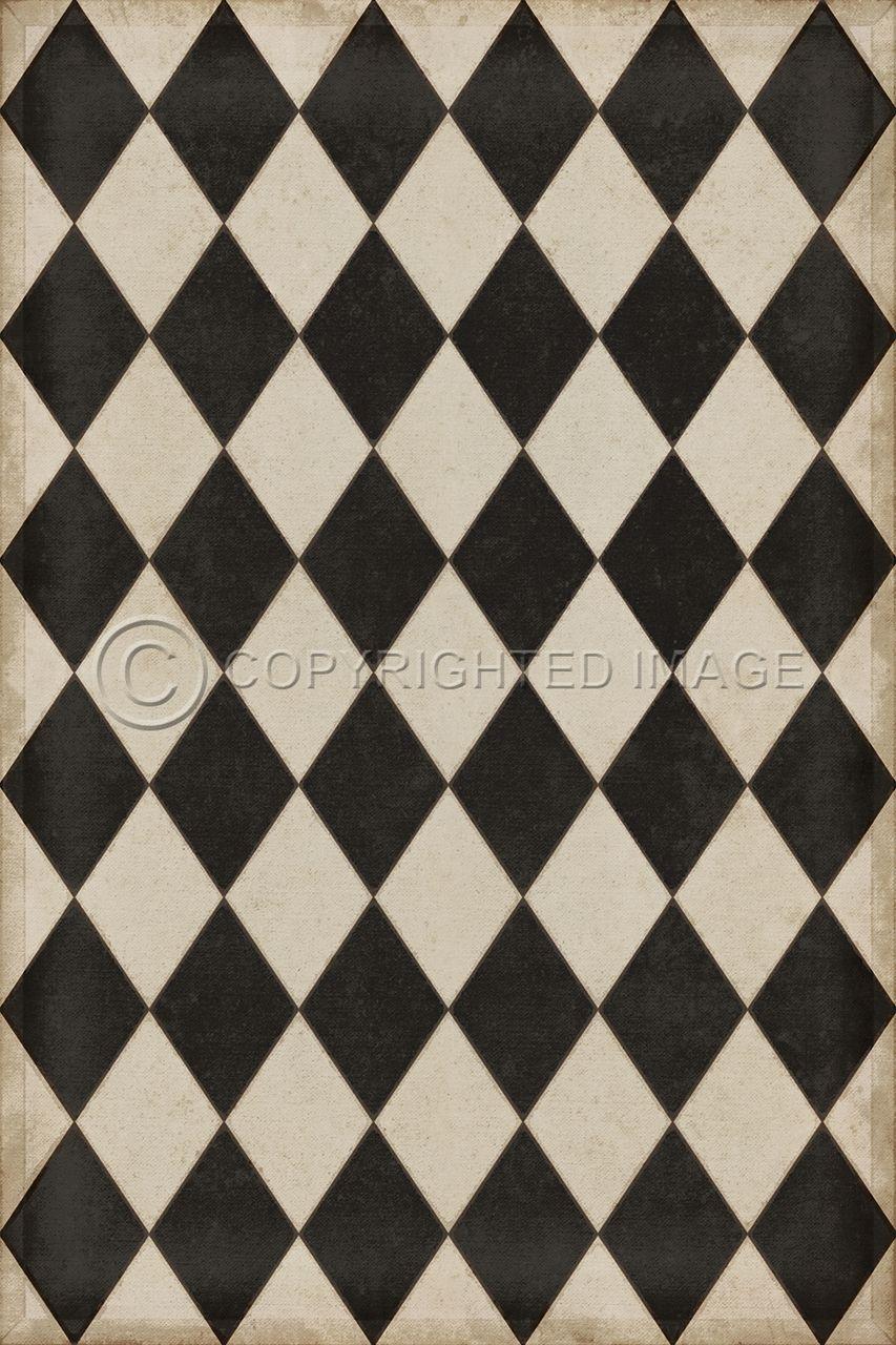 Pura Vida Home Decor Diamonds Edwards Vinyl Floor Cloth 60 00