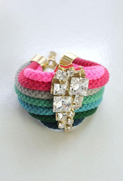 Touw Armband / Crystal