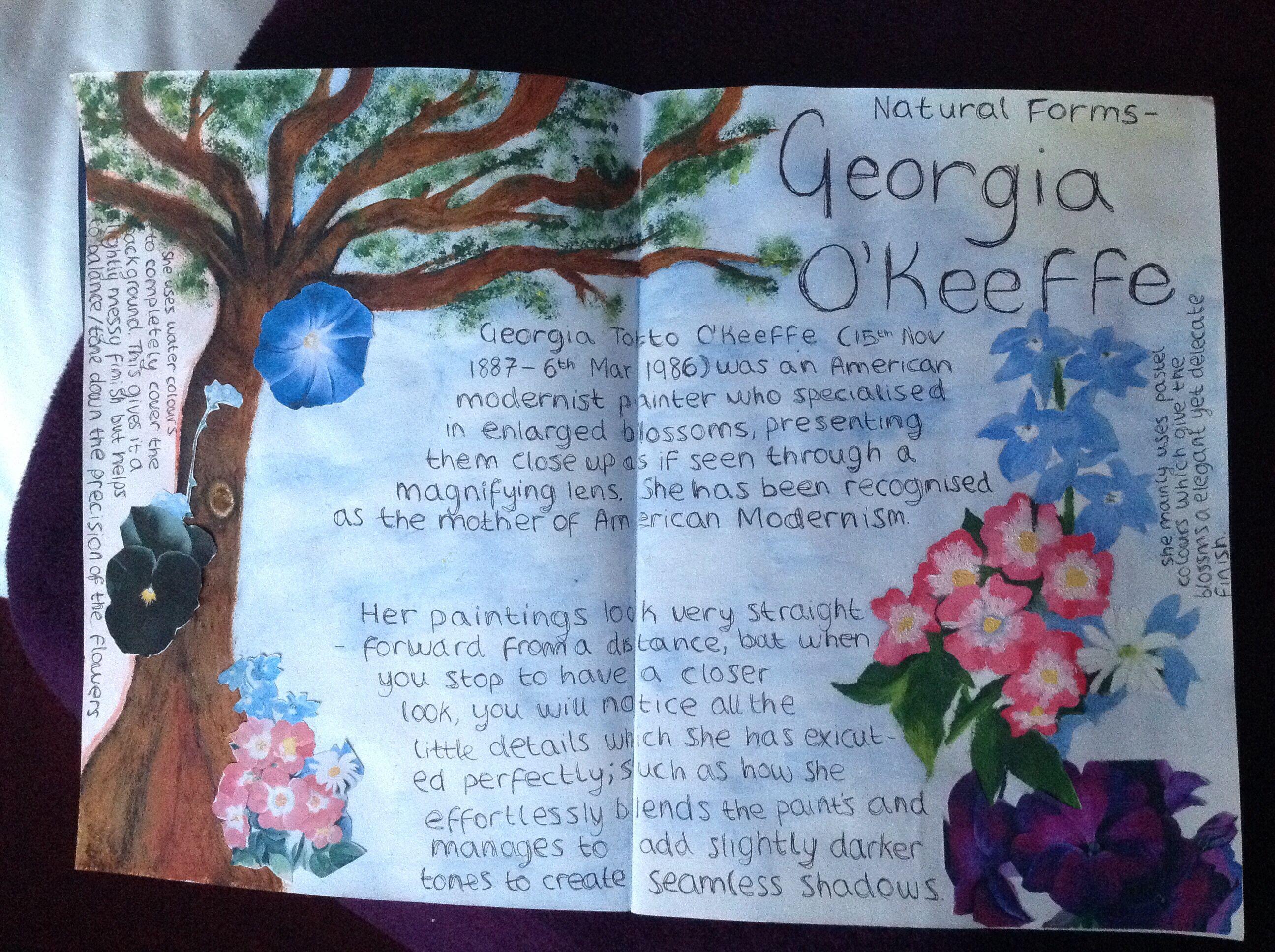 essay georgia okeefe Georgia o'keeffe - part 2 - color essay example georgia o' keeffe is a famous female artist from the early 1900's.