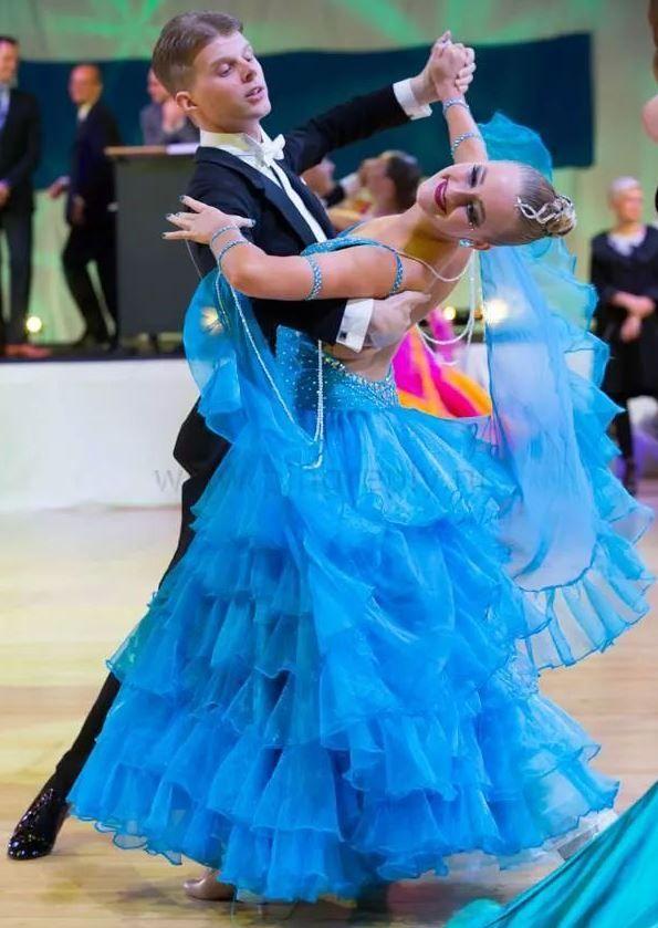 Light Blue Ballroom Dress - For Sale Selavidance.com