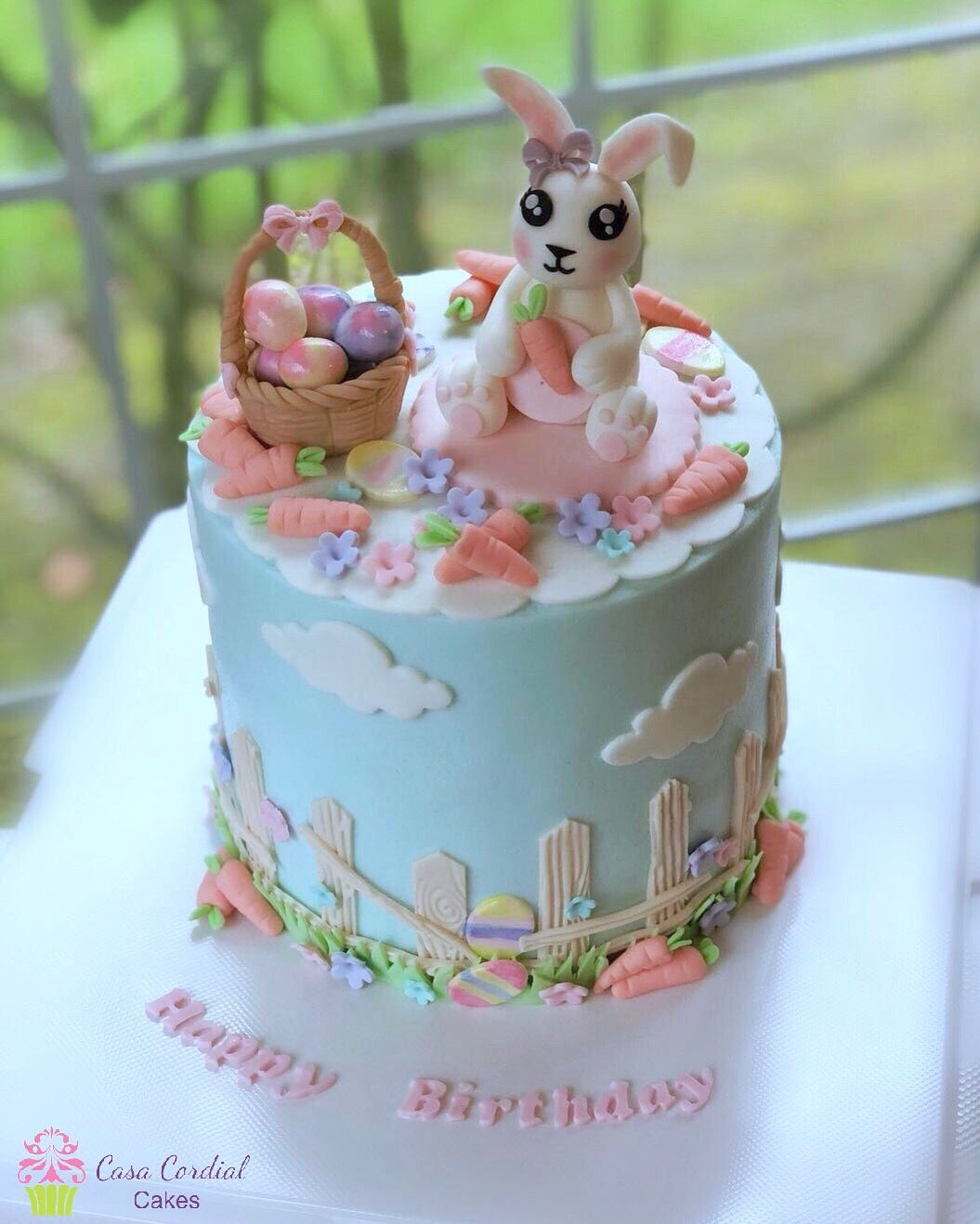 Amazing Easter Theme Cake Bunny Cake With Images Easter Cakes Easter Funny Birthday Cards Online Fluifree Goldxyz