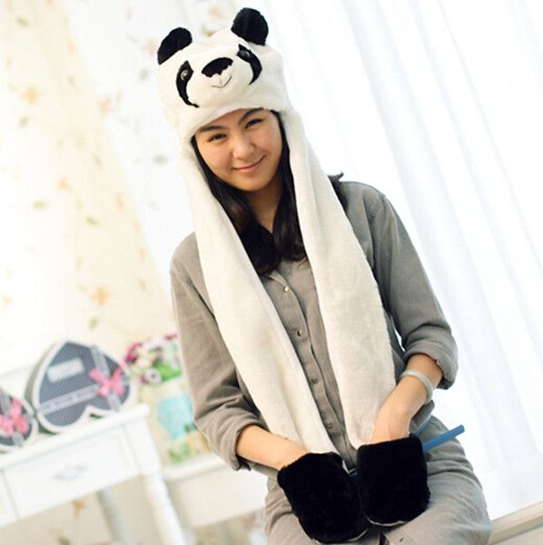 Ladies Girl/'s Warm Cartoon Animal Cute Panda Bear Winter Fluffy Hat  Christmas