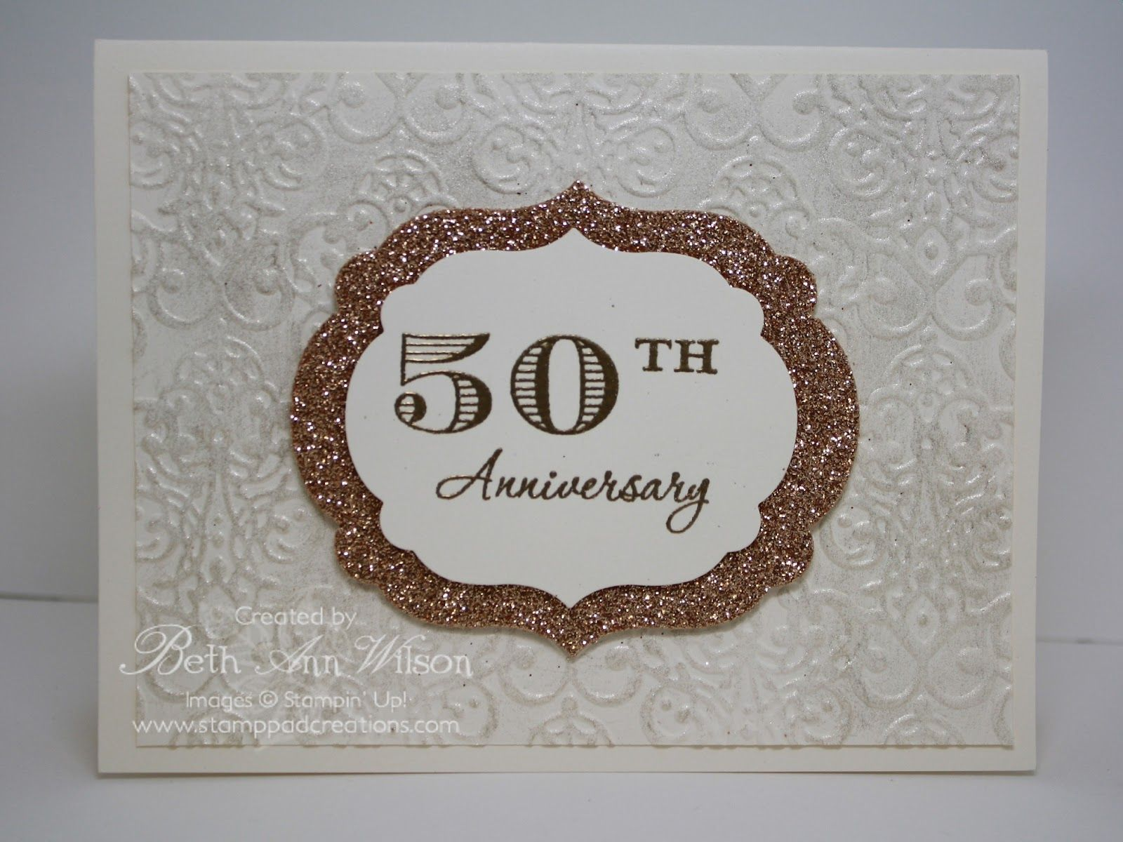 Stamp pad creations: memorable moment 50 years wedding