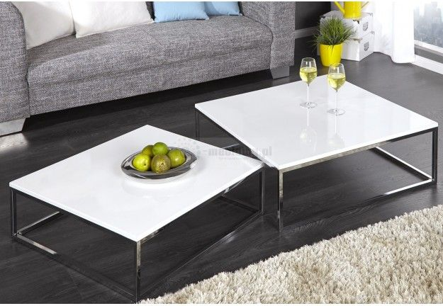 ława 2 W 1 Saga Salon Table Coffee Table Design White
