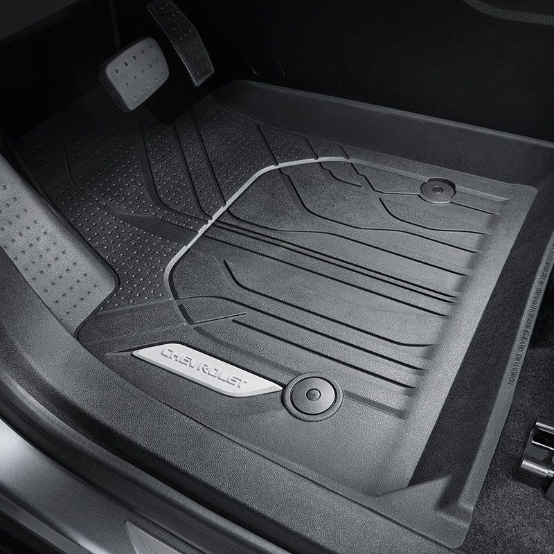 2019 Blazer Floor Liners Front Row Black Chevrolet Script Logo Driver And Passenger Sides 84148089 Floor Liners Chevrolet Accessories Chevrolet
