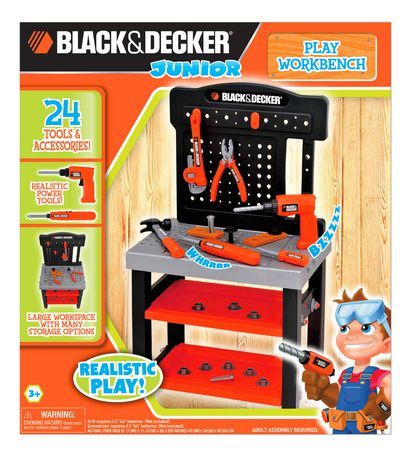 Black Amp Decker Junior Play Workbench Available From