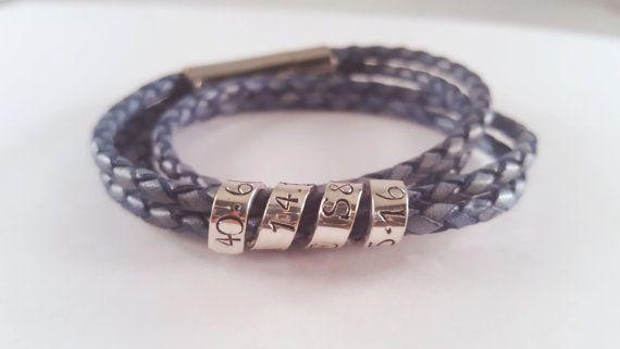 Men's Bracelet  Personalized  Secret Message  by NorthernLatitude