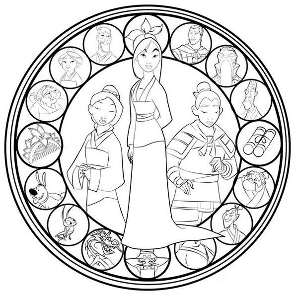 Mandalas Zum Ausdrucken Disney Mulan Malvorlagen Pinterest