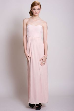 Twelfth Street By Cynthia Vincent--Maxi dress in Blush. Soft, Sweet, Sexy, & perfect for Spring! ---shopvoce.com