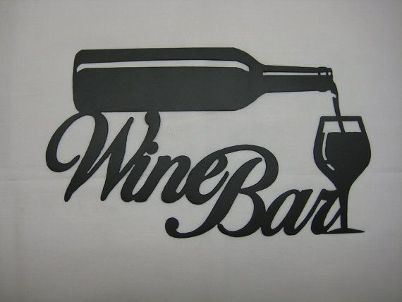 Metal Wine Signs Metal Wine Bar Wall Sign By