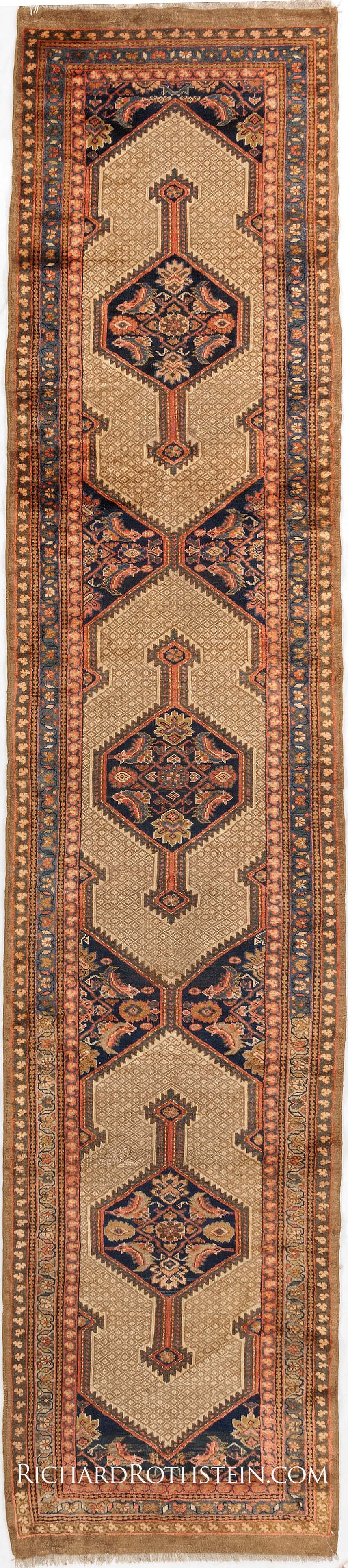 antique serab runner oriental carpet antrr887 | lionel serab rugs