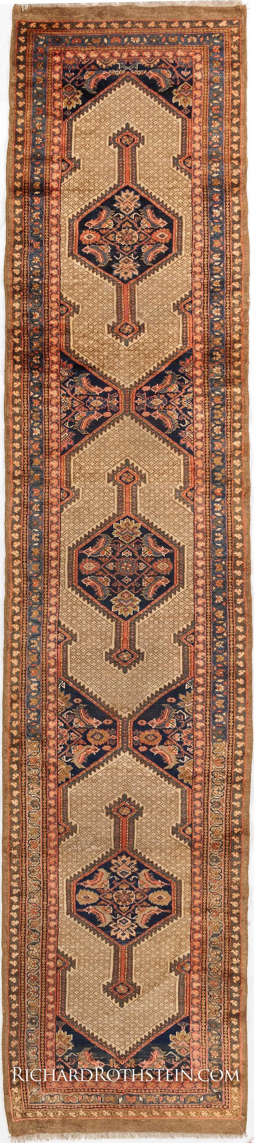 Antique serab runner oriental carpet antrr887
