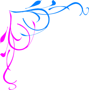 Free Pink Border Clip Art   Blue Pink Border clip art - vector ...