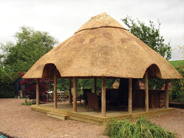 A Lapa Otherwise Known As A Gazebo Thatched Roof Wooden House