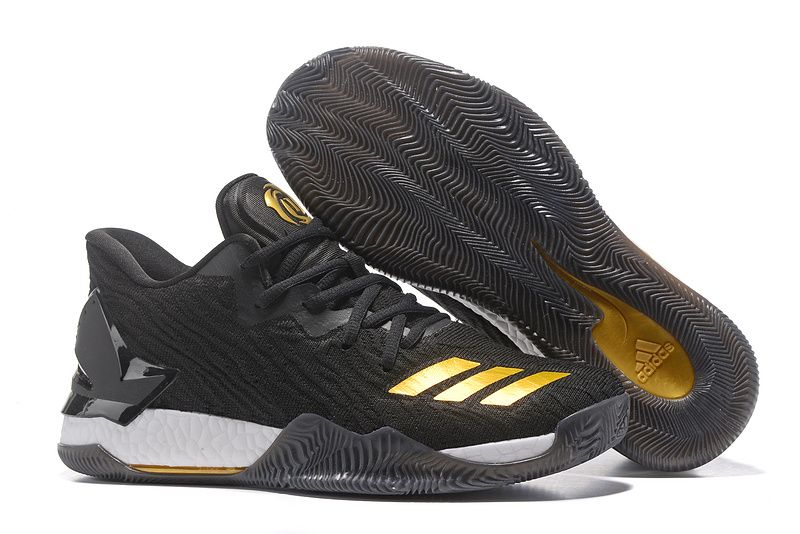"timeless design 7439e f9f08 Adidas D Rose 7 Low""Black Gold ""Sneakers for Online Sale 01"