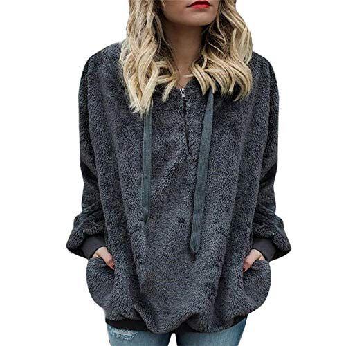 online store ce338 b7c7d Riou Kapuzenjacke Damen MäntelWinter Warmer Hoodie Pullover ...