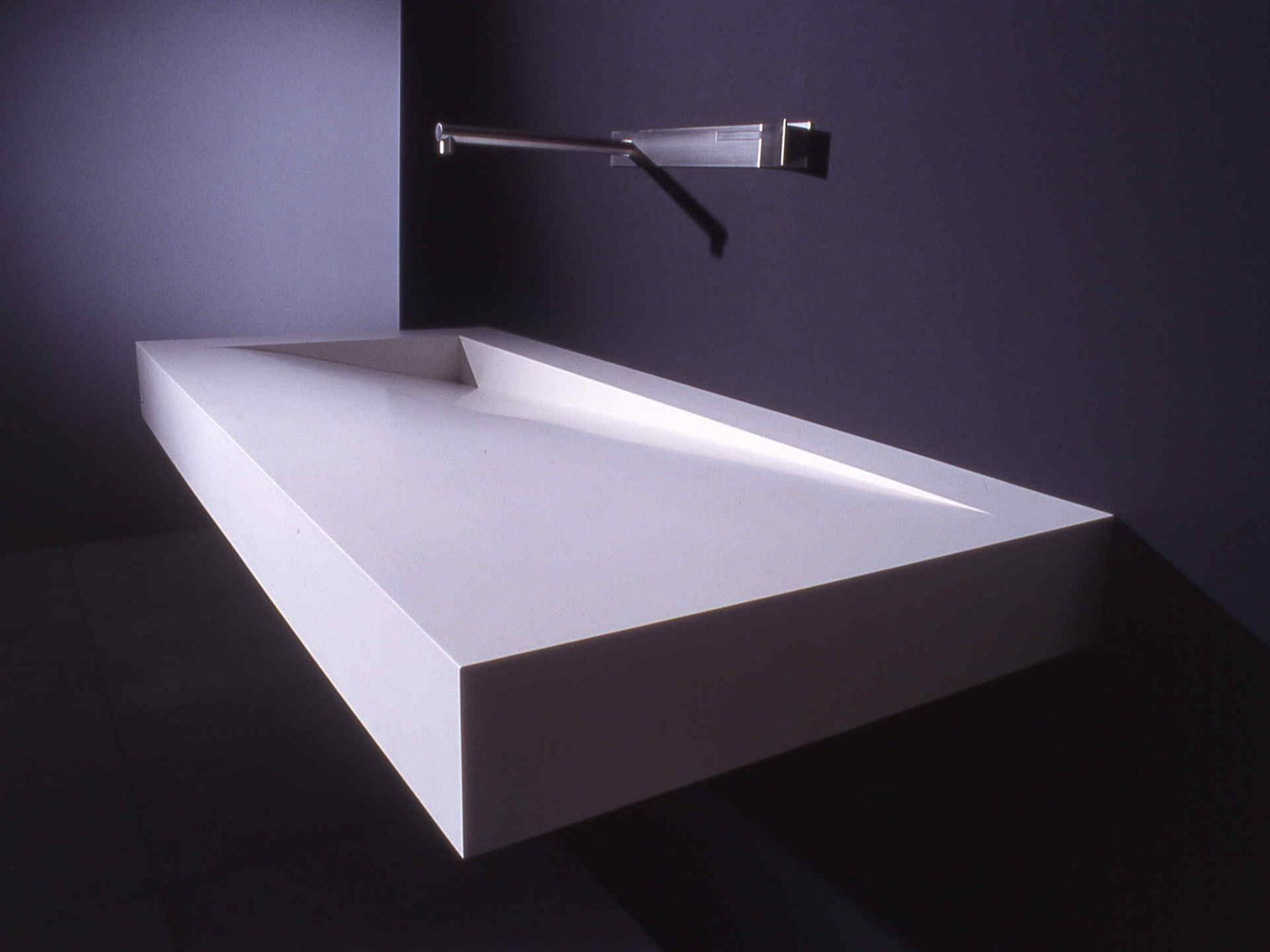 Lavabo rettangolare in corian® folio by boffi design neunzig° design