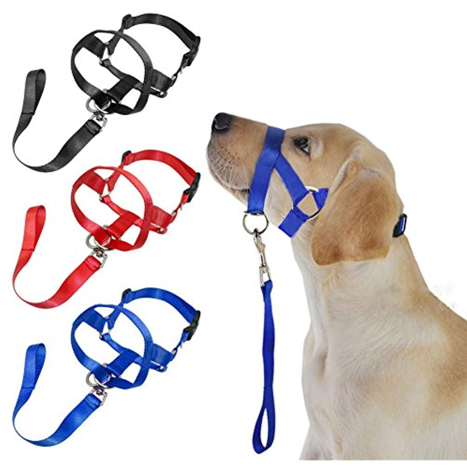 Head Collar Halter Dog Safety Muzzle Puppy Mouth Control Pet Accessories